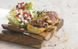 Top Sirloin and Wedge Salad