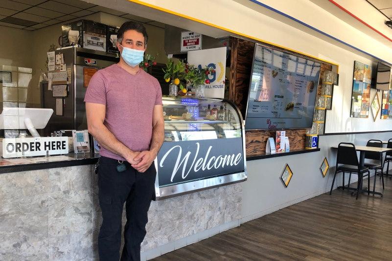 Armenian Grill Owner inside his restaurant